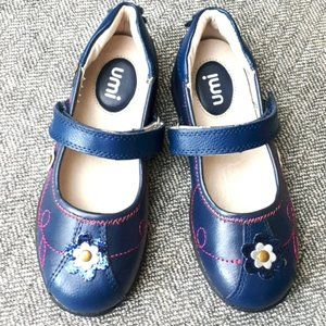 UMI Leather Mary Jane Sparkly Floral Shoes 11.5